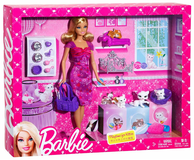 Barbie chơi cùng mèo con Playtime for Kittens Doll