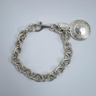 Coach Sterling Silver Chain Bracelet