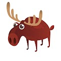Funny Cartoon Moose Free Download Vector CDR, AI, EPS and PNG Formats