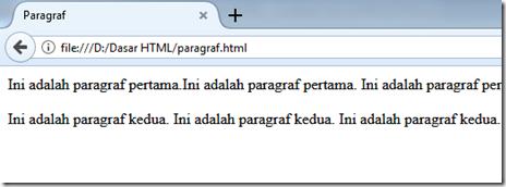 paragraf pada HTML