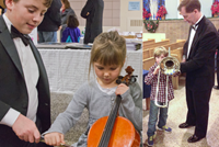 "Photo 2 – Kids get to try out instruments at the ""Instrument Petting Zoo"""