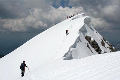 Llegando a la cima de Bisaurin - 2010