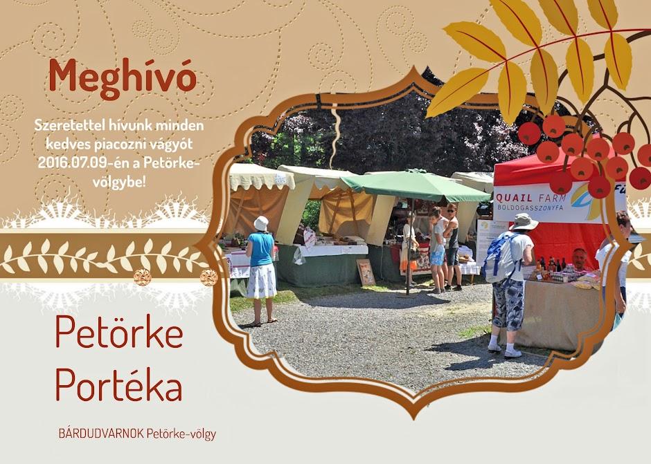 Petörke Portéka helyi piac meghívó