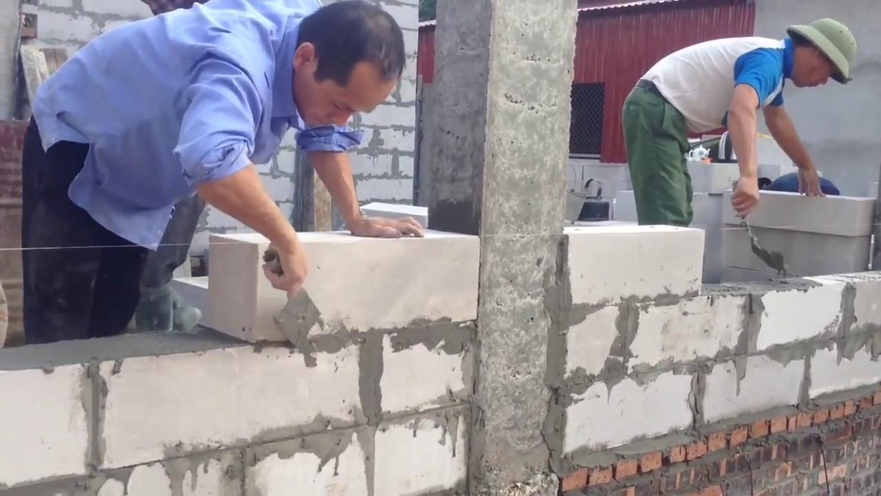 Vữa xây gạch nhẹ AAC