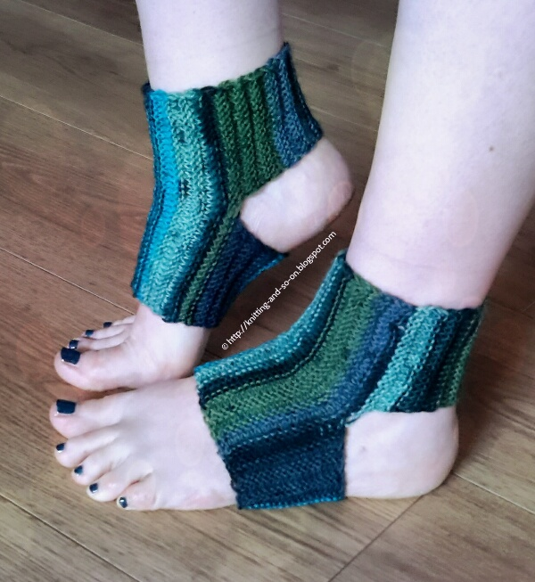 Knitting Pattern For Yoga Socks : Knitting and so on: Sideways Yoga Socks