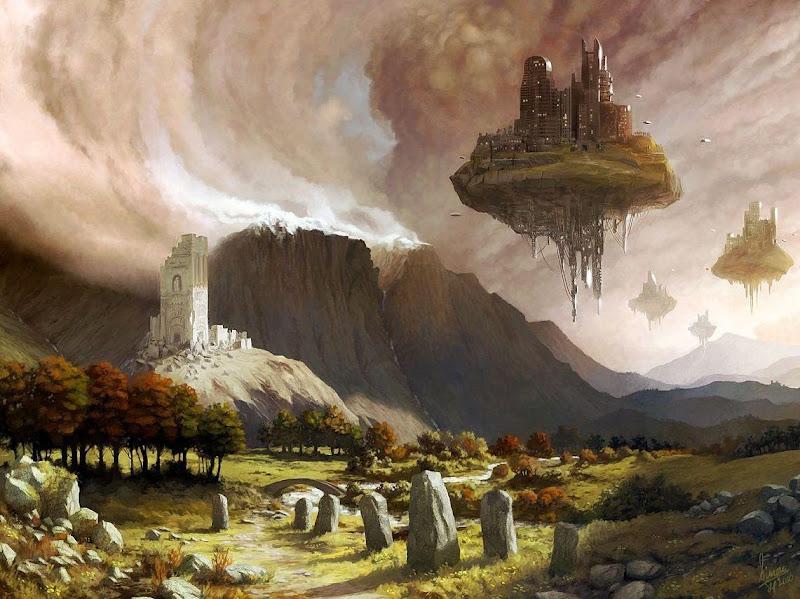 Flying Islands, Magical Landscapes 1