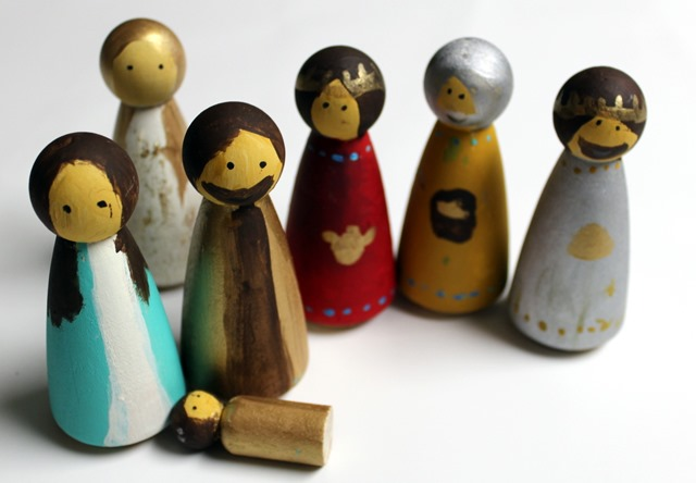 Nativity Peg People