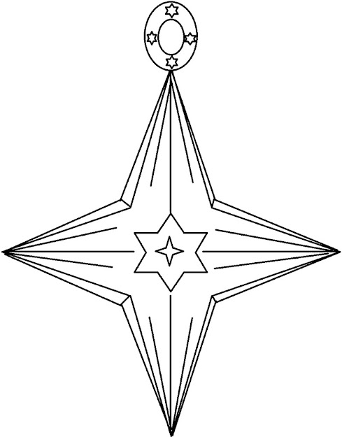 Christmas Star Ornament Coloring Page