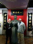 Andy Cunningham with Sifu Garry Mckenzie at the Yip Man Tong museum.