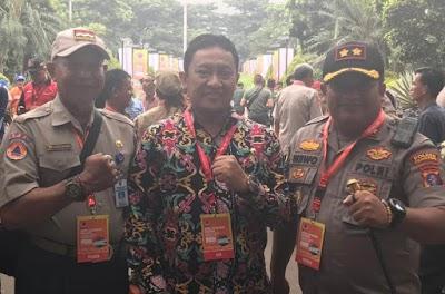 Bersama Kapolres, Bupati Edy Hadiri Rakornas di Bogor