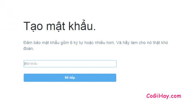 Đặt mật khẩu Twitter