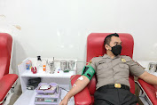 UTD Kota Makassar Apresiasi Serdik Sespimmen 61 Donor Darah Dibulan Ramadhan