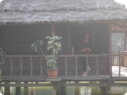 On a floating house in Cambodian Cultural Village