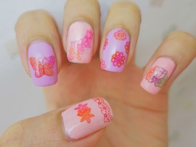 Doilies Pattern Water Decal Nail Art with HOT164