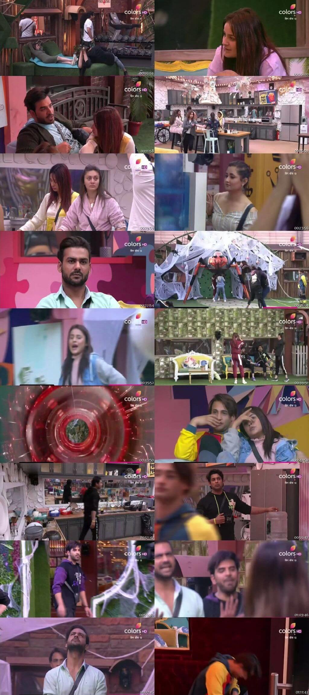 Screenshots Of Hindi Show Bigg Boss 13 23rd January 2020 Episode 115 300MB 480P HD