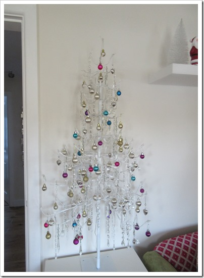 Crystal Christmas Tree using Chandalier Drops