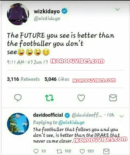 Savage! Wizkid Comes For Davido