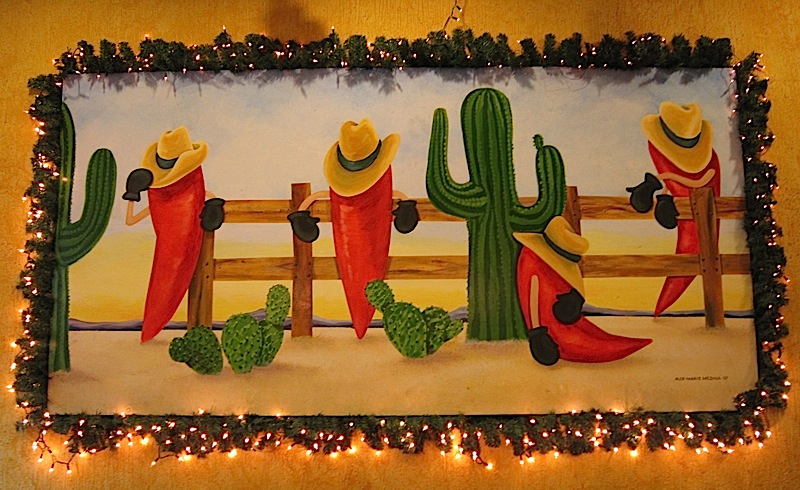 Mexicali Restaurant's desert chili painting