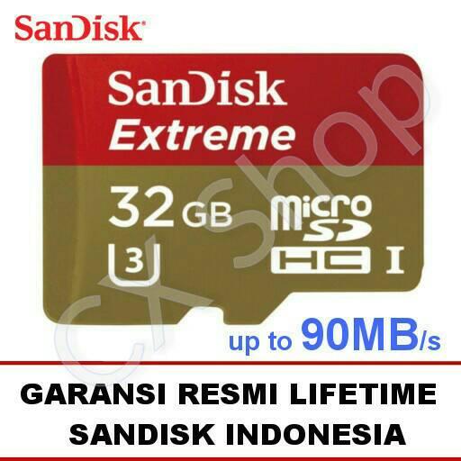 Harga SanDisk Extreme MicroSD 32GB 90MB/s microSDHC UHS- Juni - Juli 2016
