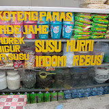 Advertising various hot drinks for sale!  One of my favourite childhood memories in Indo is drinking fresh cow's milk, boiled with a bit of sugar.