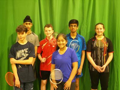 U15 Team - Calum, Mehak, Callum, Christine, Adi & Abi