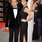 OIC - ENTSIMAGES.COM - Jon Jon Briones and Eva Noblezada at the The Olivier Awards in London 12th April 2015  Photo Mobis Photos/OIC 0203 174 1069