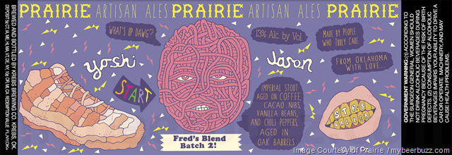 Prairie Artisan Ales Adding Fred's Blend Batch 2!