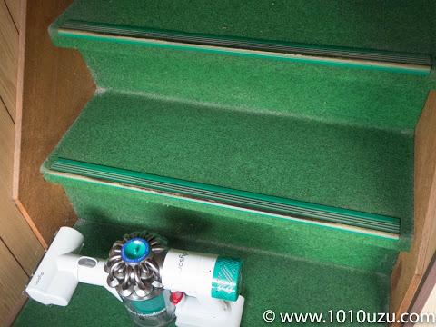 ミニモーターヘッドで階段1段だけ掃除した