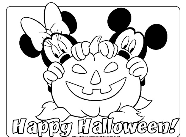 Halloween Coloring Pages Free With Disney Halloween Coloring Pages