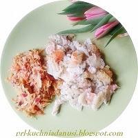 makaron zapiekany z wędzoną rybą