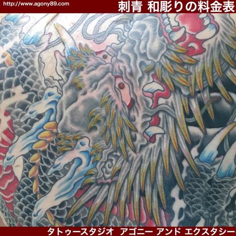 刺青 和彫りの値段、料金表