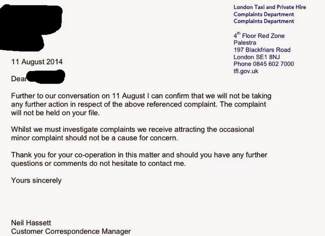 Taxi leaks letters to the editor covent garden hotel complaint part 2 i will be asking my union rmt to take this matter further as the hotel has made no attempt to contact my passenger their guest who will confirm their spiritdancerdesigns Choice Image