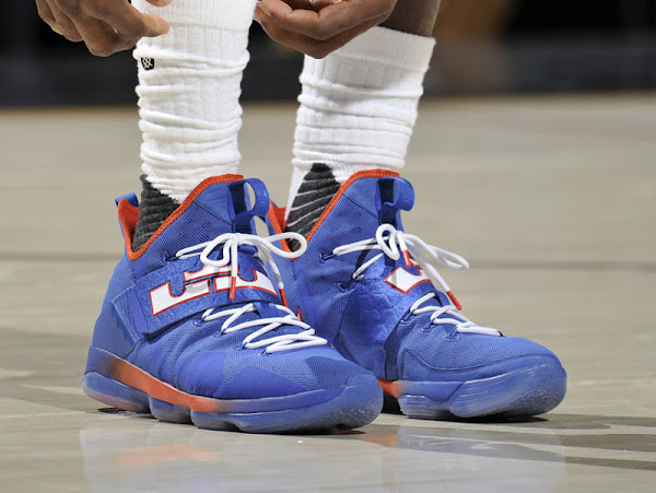 LBJ Laces Up Nike LeBron 14 HWC PE with LcrownJ Logo