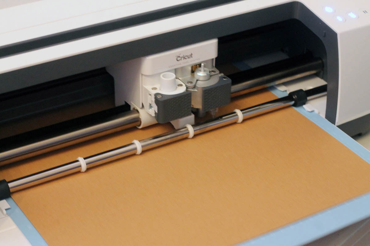 Cricut maker scoring chipboard