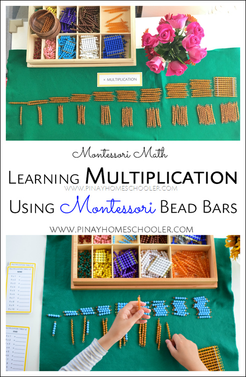 Learning Multiplication Using Montessori Colored Bead Bars