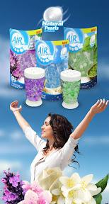 Air Breeze Fresh Natural Pearls termékcsalád komplett grafikai tervezés.