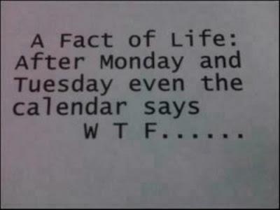 A fact of life... even the calendar says...