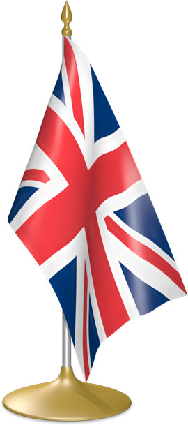 British table flags - desk flags