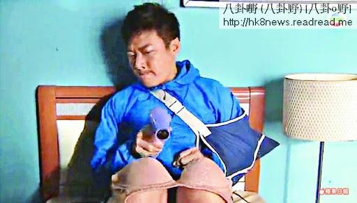 嘉樂用膝頭哥晾bra,再用風筒吹乾,結果被家人發現。
