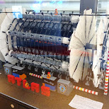 LEGO replica of the particle detector ATLAS in Geneva, Geneva, Switzerland