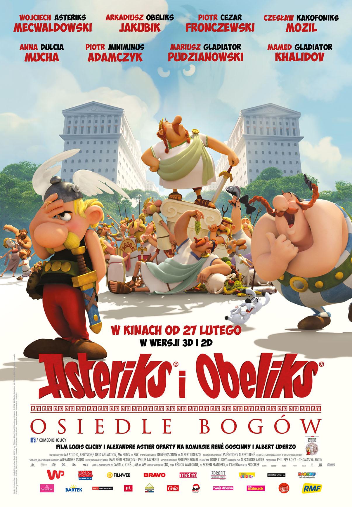 Polski plakat filmu 'Asteriks i Obeliks: Osiedle Bogów'