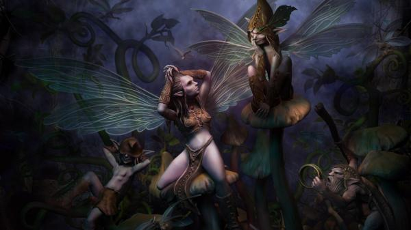 Beautiful Faerie Of Fair, Fairies Girls 2