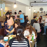 poffertjes are quite popular here in Taipei, this cafe was packed in Taipei, T'ai-pei county, Taiwan