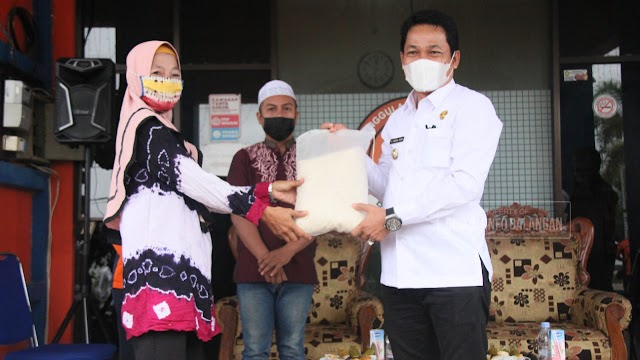 Abdul Hadi Percayakan SBC untuk Penyaluran Stok Beras Logistik Banjir