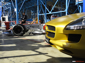 Mercedes SLS and McLaren F1