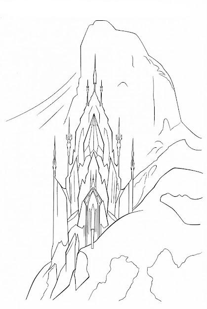 Elsa Castle Coloring Page Google Search
