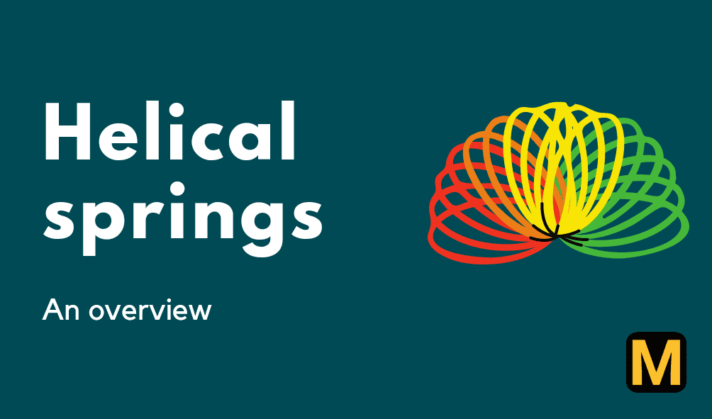 Helical springs - its types, terminology, and advantages with PDF