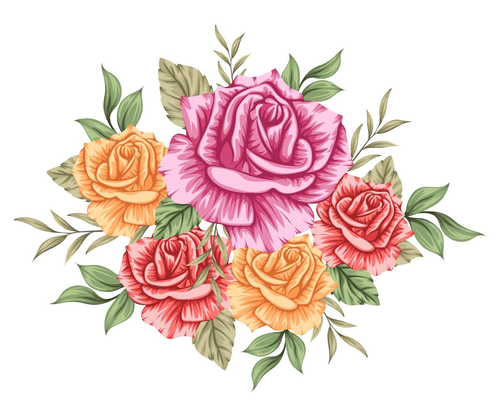 Beautiful Colourful Bouquet Flowers Free Download Vector CDR, AI, EPS and PNG Formats