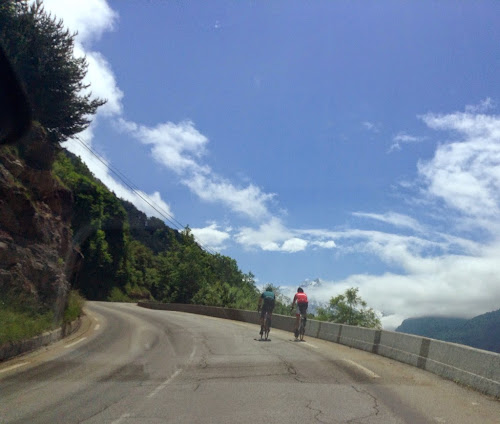 Alpe D'Huez, going down