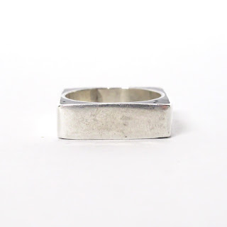 Sterling Silver & Black Stone Ring